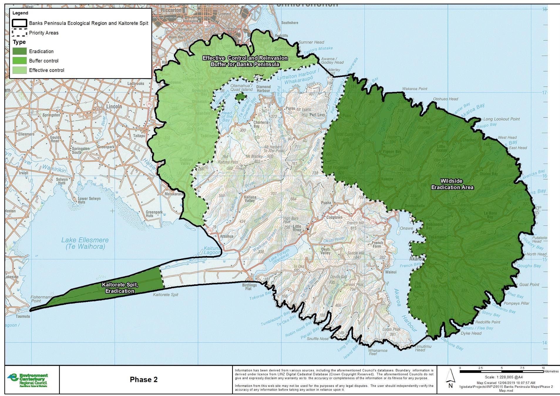Phase 2: Wildside and Kaitorete Eradication Areas expanded.